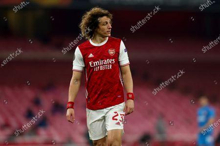David Luiz of Arsenal; Emirates Stadium, London, England; UEFA Europa League Football, Arsenal versus Olympiacos.