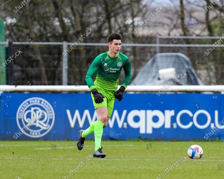Stock Picture of Joe Walsh of QPR during the Sky Bet Championship Professional Development League 2 (South) match between Queens Park Rangers and Cardiff City at QPR training ground, Harlington, London on Tuesday 16th March 2021.
