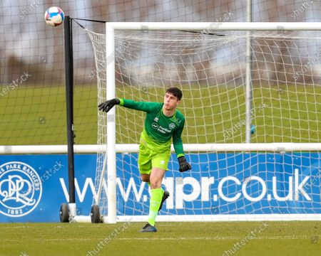 Joe Walsh of QPR during the Sky Bet Championship Professional Development League 2 (South) match between Queens Park Rangers and Cardiff City at QPR training ground, Harlington, London on Tuesday 16th March 2021.