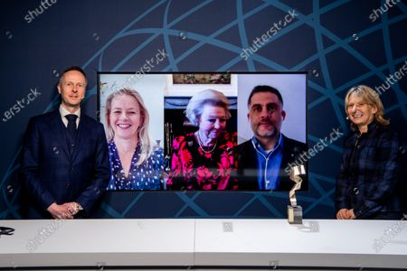 Princess Beatrix and Princess Mabel present online at the presentation of the seventh Prince Johan Friso Engineering Award. Winner of the Prince Johan Friso Engineering Award is Dr David Fernandez Rivas.