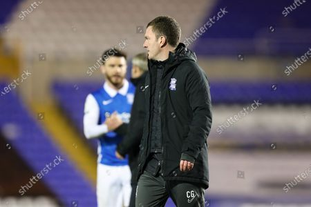 Birmingham City coach Craig Gardner leaves the pitch after his side's victory