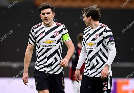 Harry Maguire of Manchester United and Eric Bailly of Manchester United