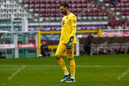 Salvatore Sirigu of Torino FC during the Serie A football match between Torino FC and US Sassuolo at Olympic Grande Torino Stadium on March 17, 2021 in Turin, Italy. Torino won 3-2 over Sassuolo.