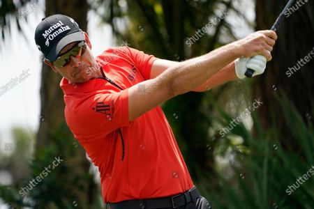 Henrik Stenson, of Sweden, hits from the second tee during a practice round of the Honda Classic golf tournament, in Palm Beach Gardens, Fla