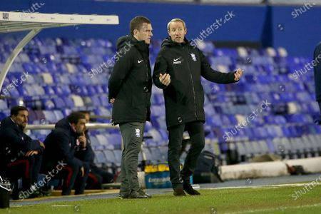 BIRMINGHMA NEW BOSS LEE BOWYER AND CRAIG GARDNER GESTURES during the EFL Sky Bet Championship match between Birmingham City and Reading at the Trillion Trophy Stadium, Birmingham