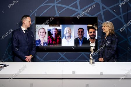 Princess Beatrix and Princess Mabel during the virtual presention of the 7th Prince Johan Friso Engineering Award. Engineers who distinguish themselves in expertise, innovative capacity, social impact and entrepreneurship are eligible for the annual Prince Johan Friso Engineering Award.