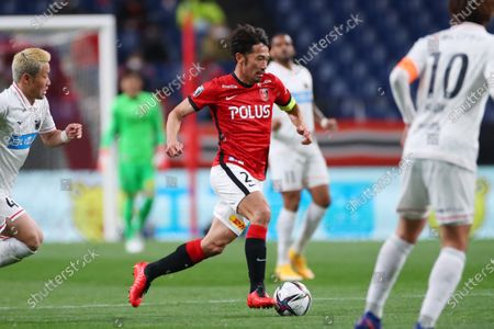 Stock Picture of Yuki Abe (Reds) - Football / Soccer :  2021 J1 League match  between Urawa Red Diamonds 0-0 Hokkaido Consadole Sapporo  at Saitama Stadium 2002, Saitama, Japan.