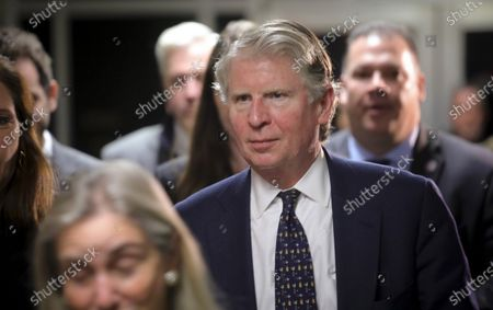 Manhattan District Attorney Cyrus Vance Jr., center, leaves Criminal Court in New York. New York prosecutors are asking new questions about former President Donald Trump's Seven Springs estate in Mount Kisco, N.Y., trying to determine whether the value of the century-old mansion was improperly inflated to reduce the former president's taxes