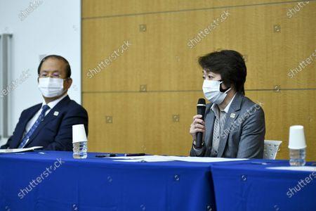 Editorial photo of Tokyo 2020 President Seiko Hashimoto holds press conference, Japan - 18 Mar 2021