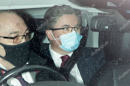 Lord Chancellor and Secretary of State for Justice Robert Buckland arrives at The Hosues of Parliament.
