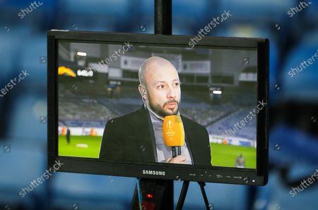 Former Rangers Player Alan Hutton working as a TV Pundit