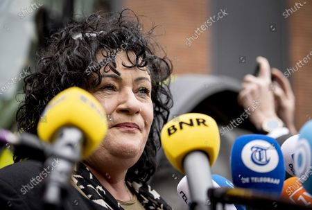 The Dutch Farmer-Citizen Movement (Dutch: BoerBurgerBeweging, BBB) leader Caroline van der Plas speaks to the media as she arrives at the Binnenhof, in The Hague, The Netherlands, 18 March 2021, the day after the parliamentary elections. The Dutch House of Representatives elections were held on 17 March, the formation discussions to form a government will now take place in the Stadhouderskamer of the Binnenhof government buldings complex.