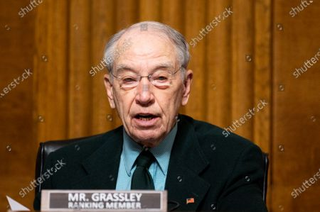 U.S. Senator Chuck Grassley (R-IA) speaks at a hearing of the Senate Judiciary Committee.