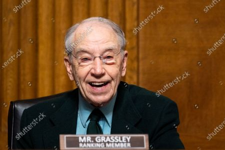 Stock Picture of U.S. Senator Chuck Grassley (R-IA) speaks at a hearing of the Senate Judiciary Committee.