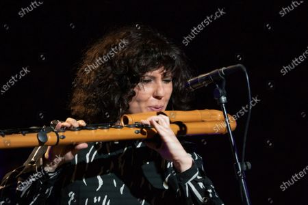 jazz music Trinidad Jimenez during her performance at the Ellas Crean festival at the Casa de America in Madrid, Spain, on March 17, 2021.