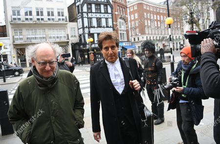 David Sherbourne (C), a lawyer representing US actor Johnny Depp, arrives at the Royal Courts of Justice in London, Britain, 18 March 2021. US actor Johnny Depp is appealing the verdict after he lost his case when suing The Sun's newspaper publisher News Group Newspapers (NGN) over claims he abused his ex-wife Amber Heard.