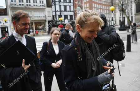 Sasha Wass (R), a lawyer representing US actress Amber Heard, arrives at the Royal Courts of Justice in London, Britain, 18 March 2021.  US actor Johnny Depp is appealing the verdict after he lost his case when suing The Sun's newspaper publisher News Group Newspapers (NGN) over claims he abused his ex-wife Amber Heard.