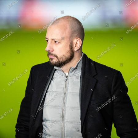 Former Rangers player Alan Hutton during the Europa League last 16 match at Ibrox Stadium, Glasgow.