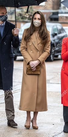 Catherine Duchess of Cambridge visit Newham ambulance station in East London. During the visit, The Duke and Duchess met with ambulance staff and paramedics to hear more about their experiences of working during the pandemic and about the mental health and wellbeing support provided at the Station and through the London Ambulance Service.