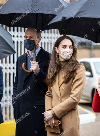 Editorial photo of Prince William and Catherine Duchess of Cambridge visit to Newham ambulance station, East London, UK - 18 Mar 2021