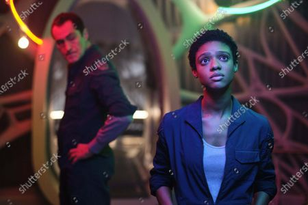 Stock Picture of Demian Bichir, Tiffany Boone