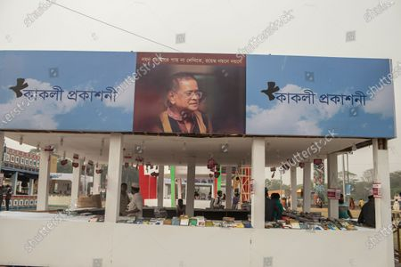 "General view of Amar Ekushey Book Fair. Inaugurated by Prime Minister Sheikh Hasina, Amar Ekushey Book Fair-2021 in the capital at Bangla Academy and Suhrawardy Udyan will remain open till April. This year's book fair has been dedicated to the martyrs of 1971 Liberation War of Bangladesh. The main theme is ""Birth Centenary of Bangabandhu Sheikh Mujibur Rahman and Golden Jubilee of Independence""."