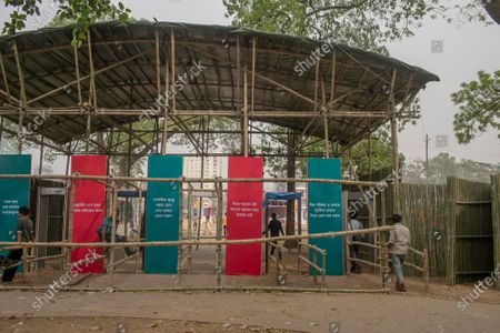 "The entry gate of Amar Ekushey Book Fair. Inaugurated by Prime Minister Sheikh Hasina, Amar Ekushey Book Fair-2021 in the capital at Bangla Academy and Suhrawardy Udyan will remain open till April. This year's book fair has been dedicated to the martyrs of 1971 Liberation War of Bangladesh. The main theme is ""Birth Centenary of Bangabandhu Sheikh Mujibur Rahman and Golden Jubilee of Independence""."