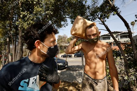 Editorial image of Echo Park homeless camp, Echo Park, Los Angeles, California, United States - 28 Feb 2021