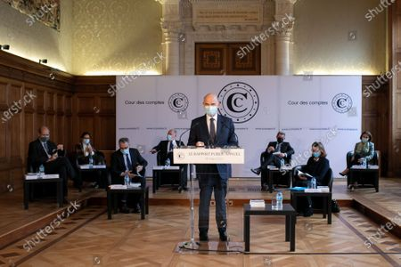 Pierre Moscovici President of the Court of Auditors presents the annual public report 2021