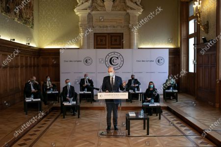 Editorial image of Pierre Moscovici presents annual report, Paris, France - 18 Mar 2021