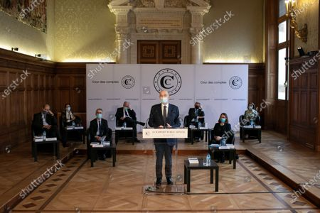 Editorial picture of Pierre Moscovici presents annual report, Paris, France - 18 Mar 2021