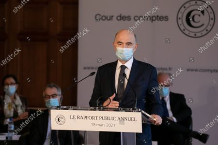 Stock Picture of Pierre Moscovici President of the Court of Auditors presents the annual public report 2021