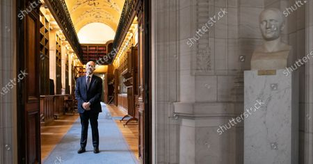 Editorial photo of Pierre Moscovici presents annual report, Paris, France - 18 Mar 2021