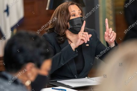 Editorial picture of US Vice President Kamala Harris meets with labor leaders, Washington, District of Columbia, USA - 18 Mar 2021