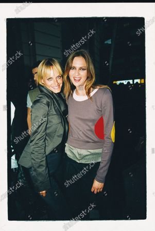 Amber Valletta catching up with Elise Crombez backstage at the Gucci runway show. Élise Crombez, Amber Valletta