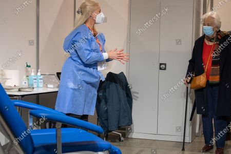 Editorial photo of King Albert II and Queen Paola Covid-19 vaccination, Brussels, Belgium - 18 Mar 2021