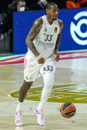Trey Thompkins of Real Madrid in action during Euroleague basketball match played between Real Madrid and PBC CSKA Moscow at Wizink Center stadium on March 18, 2021 in Madrid, Spain.