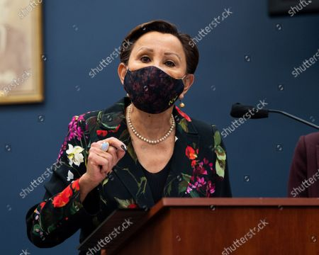 U.S. Representative Nydia Velazquez (D-NY) speaks at the introduction of the Puerto Rico Self-Determination Act of 2021.