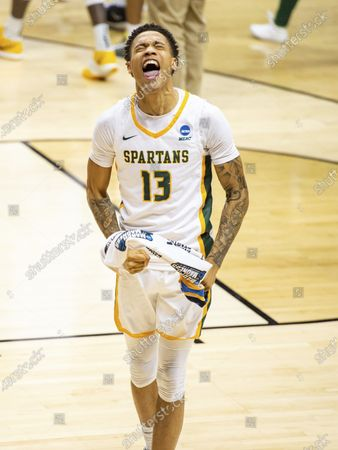 Editorial image of NCAA Norfolk St Appalachian St Basketball, Bloomington, United States - 18 Mar 2021