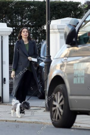Editorial image of Exclusive - Frank and Christine Lampard out and about, Chelsea, London UK - 19 Mar 2021
