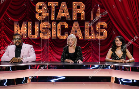 Stock Picture of Trevor Dion-Nicholas, Elaine Paige and Samantha Barks.