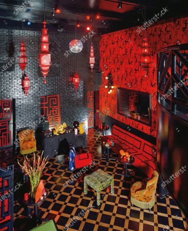 The interior of Le Baron Chinatown, a nightclub in New York City.