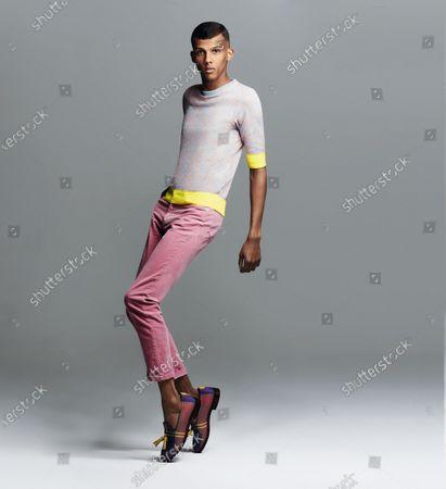 Belgian musician, rapper, singer and songwriter Stromae. Stromae