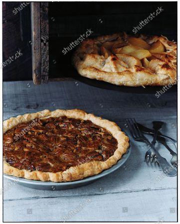 Pecan Pie and Apple Tart.