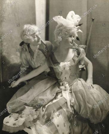Eva Dahlgren and Lilias Hollins wearing 18th-century French mode costumes (designed by Joseph B. Platt) for the Junior League Ball. Eva Dahlgren, Lilias Hollins