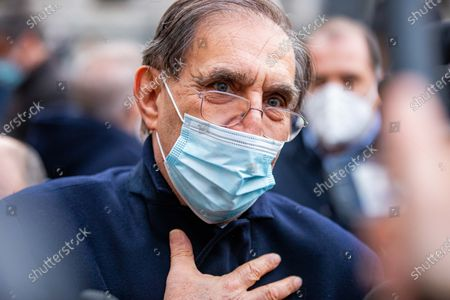 Editorial picture of Funeral Home Of Carlo Tognoli In Milan, Italy - 06 Mar 2021