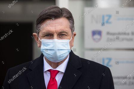 Editorial photo of Senior State officials vaccinated in Ljubljana, Slovenia - 19 Mar 2021