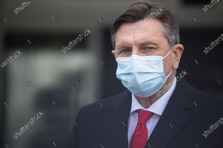 Slovenian president Borut Pahor speaks to the press after being vaccinated. Slovenian senior State officials, including President Borut Pahor, and Prime Minister Janez Jansa, were vaccinated against covid-19 with the AstraZeneca vaccine.