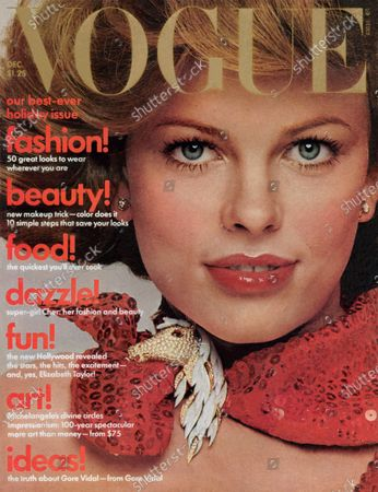 Editorial picture of Vogue December 01, 1974 Cover