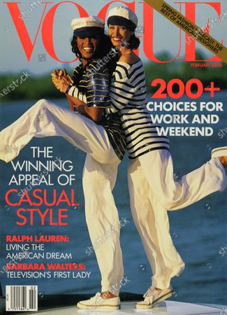 Editorial photo of Vogue February 01, 1992 Cover